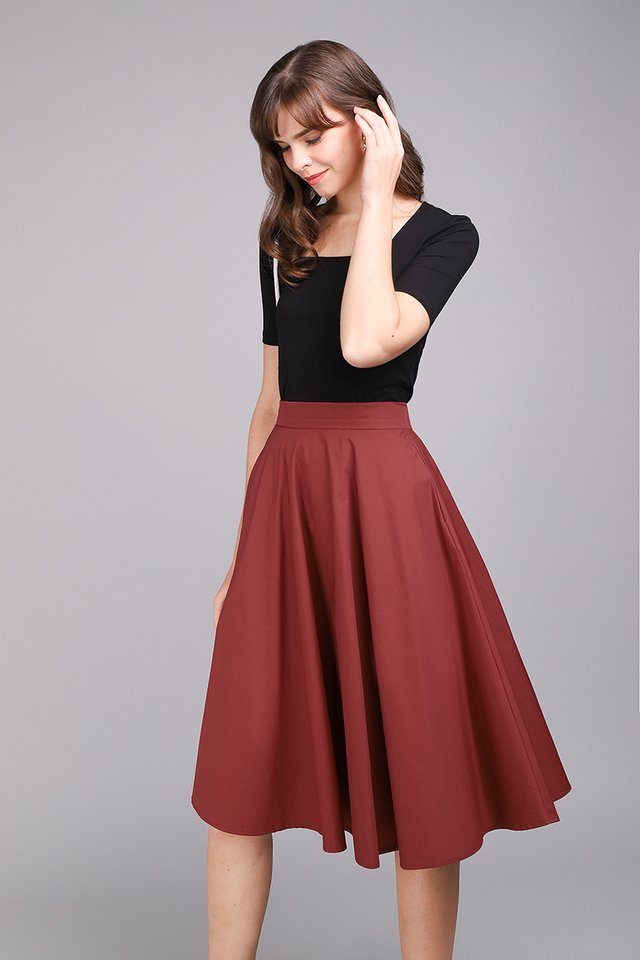 Poppy Skirt In Rust