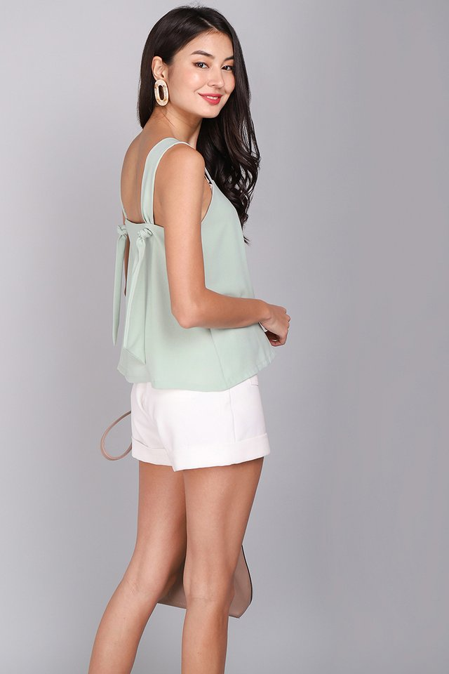 Candy Treats Top In Sage Green