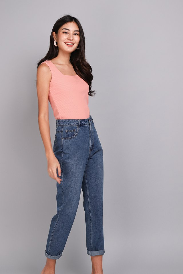Thea Top In Coral Pink