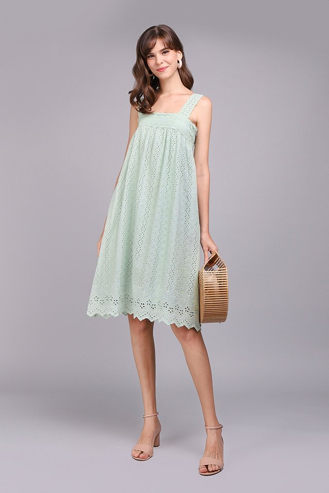 A True Romantic Dress In Sage Green