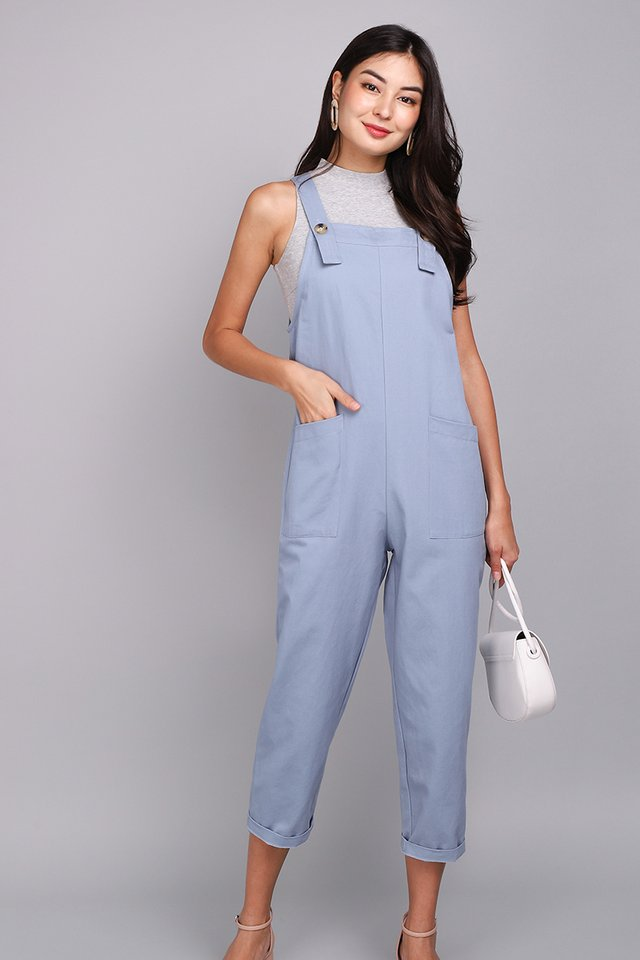 Huckleberry Finn Romper In Denim Blue