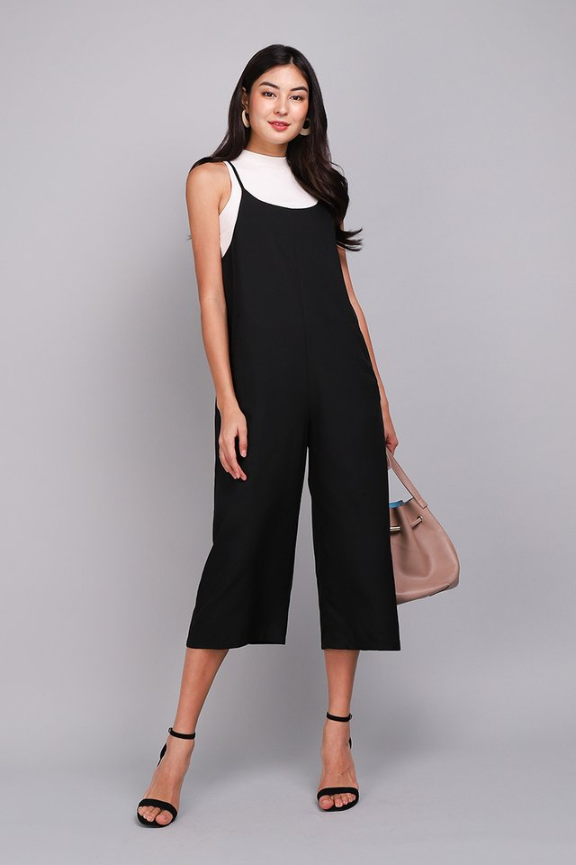 Time Traveller Romper In Classic Black
