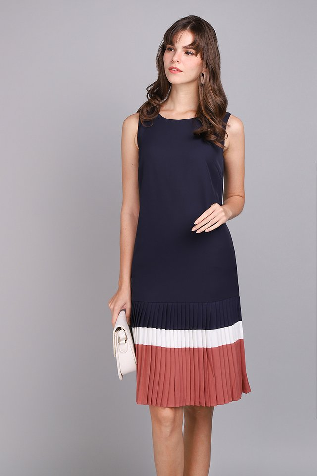 Classically Crafted Dress In Blue Rose