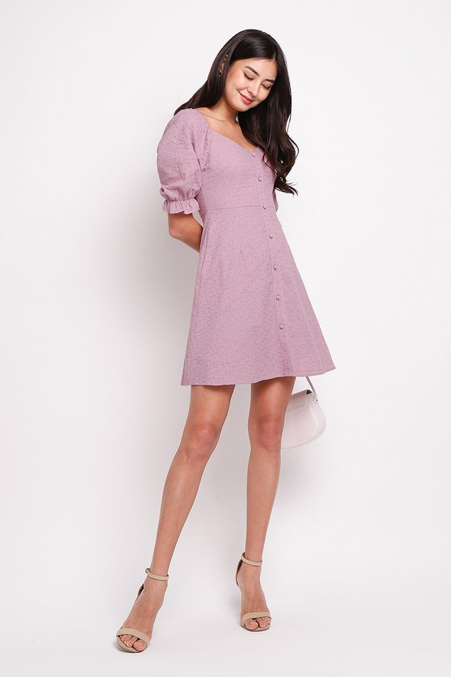 Pocketful Of Love Dress In Dusty Lilac