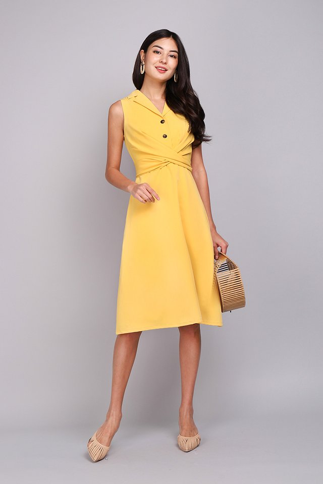 On The Bright Side Dress In Sunshine Yellow