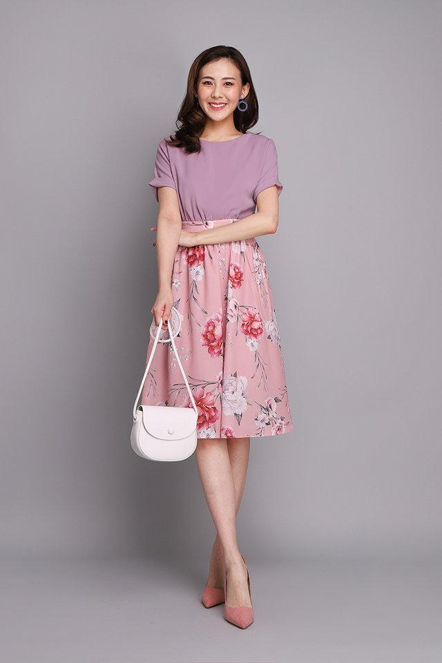Pardon My French Dress In Lilac Florals