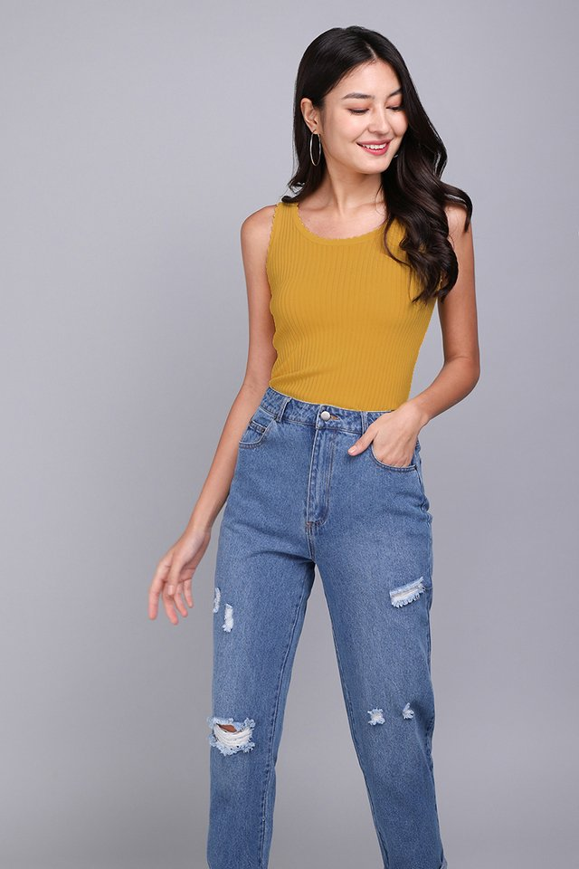 Marie Top In Mustard Yellow