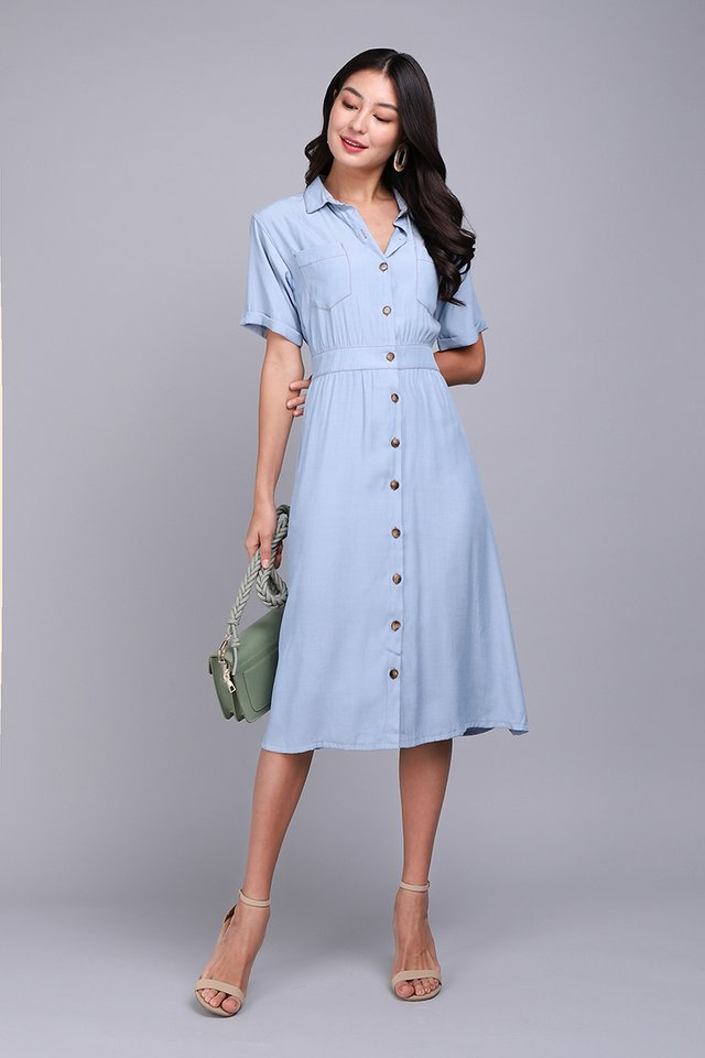 Start Afresh Dress In Light Wash