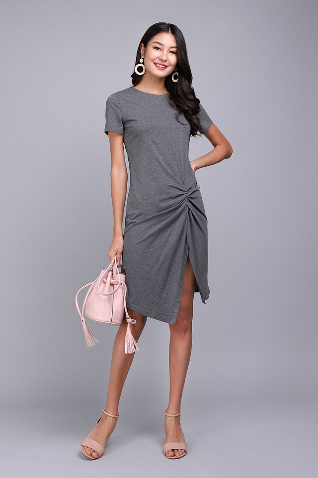 Weekender Dress In Heather Grey