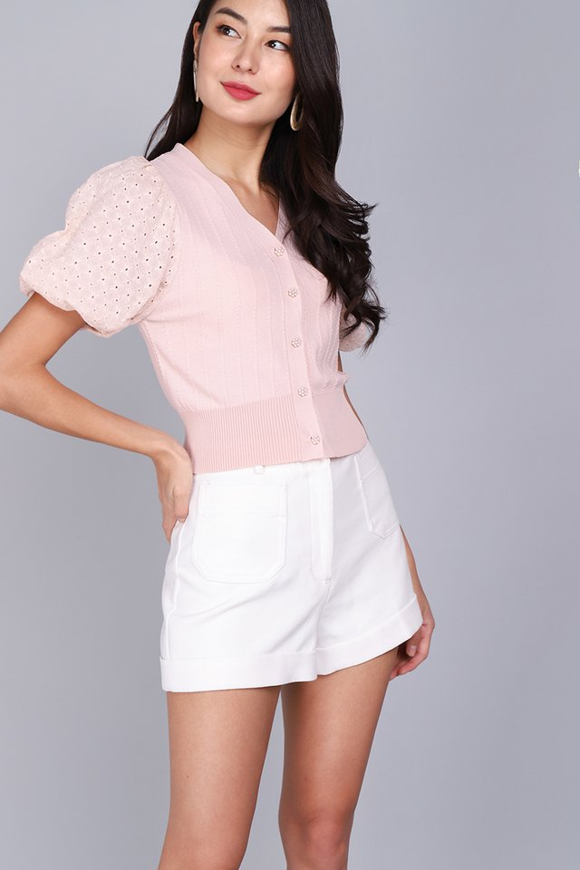 Adoring Heart Top In Dusty Pink