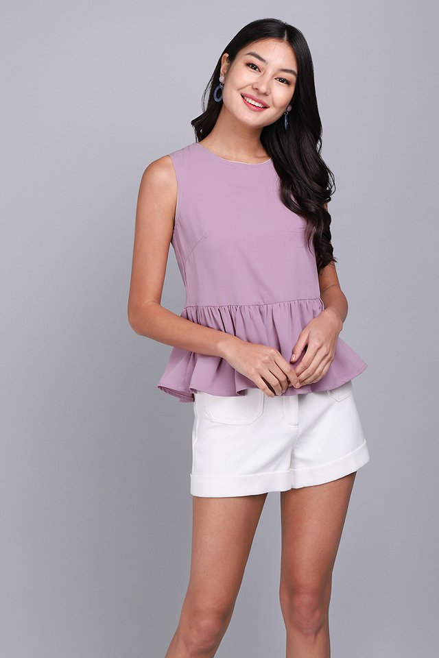 Okay Dokay Top In Sand Lilac