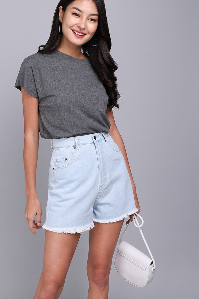 Nora Top In Heather Grey