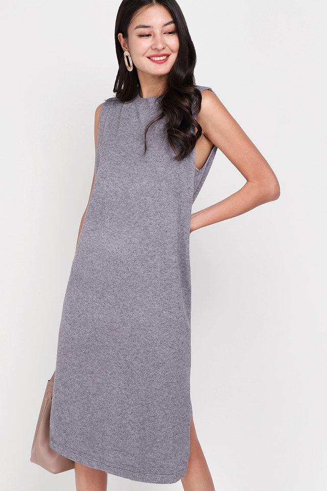 Fall Getaway Dress In Heather Grey