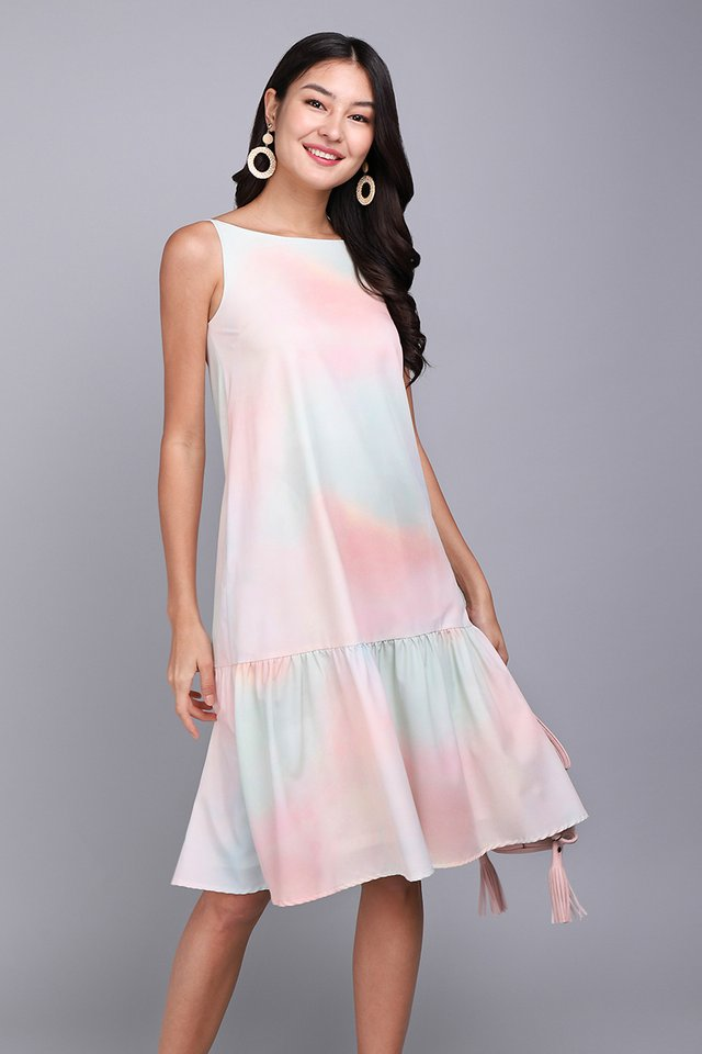 Unicorn Dust Dress In Pastel Prints