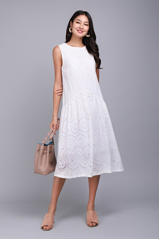 Delicate Charm Dress In Classic White