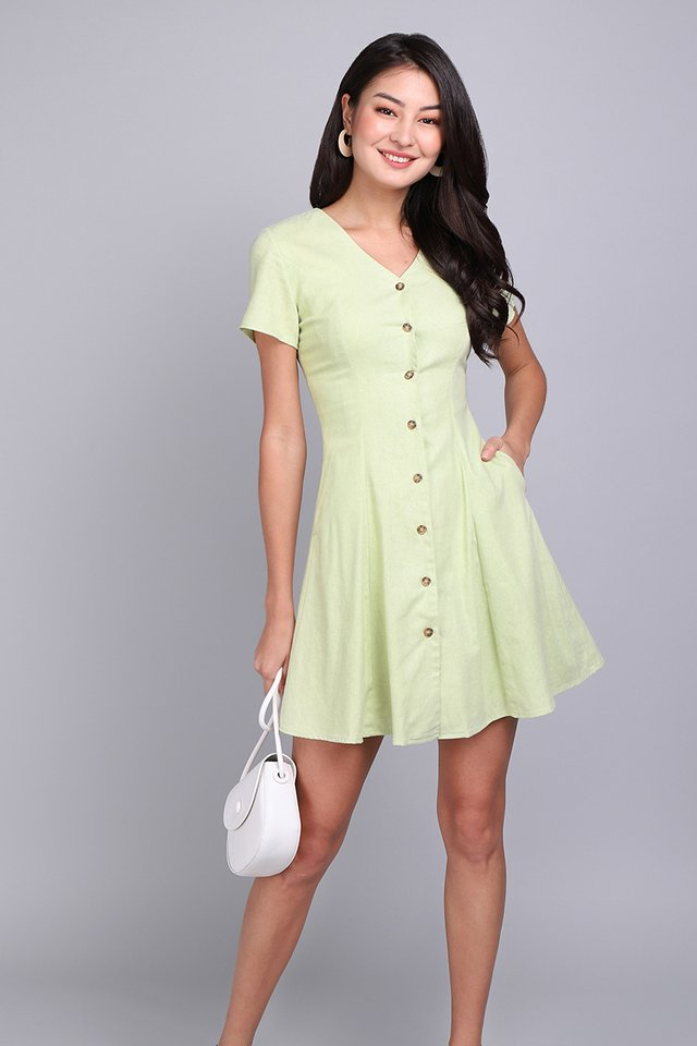 Little Italy Dress In Apple Green