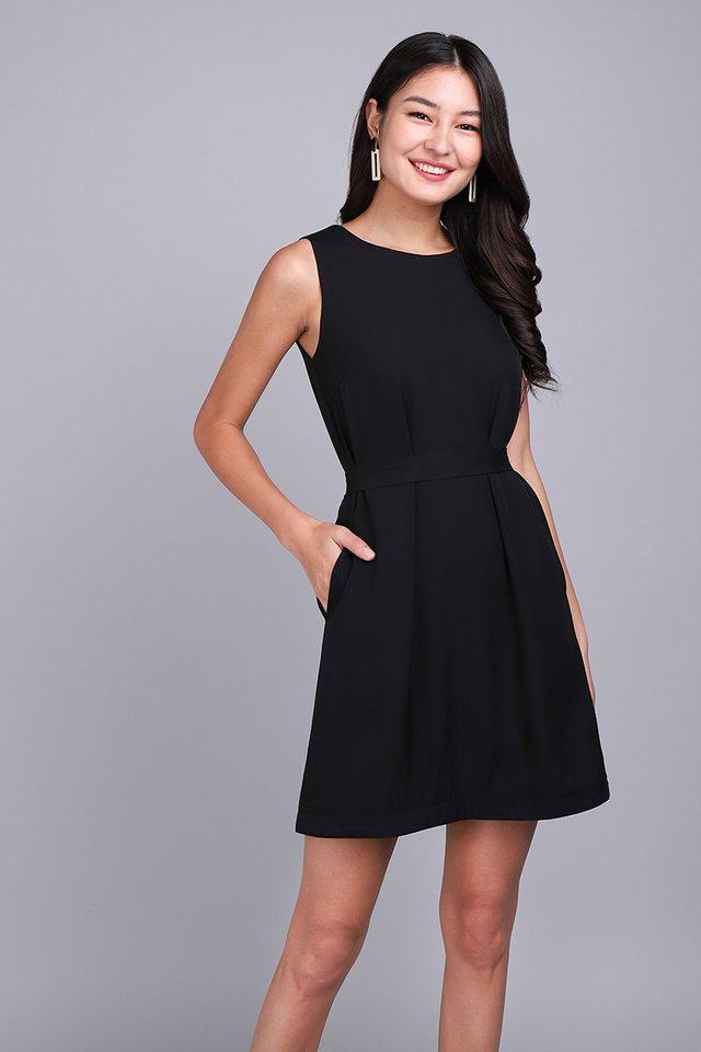 Weekday Merriment Dress In Classic Black