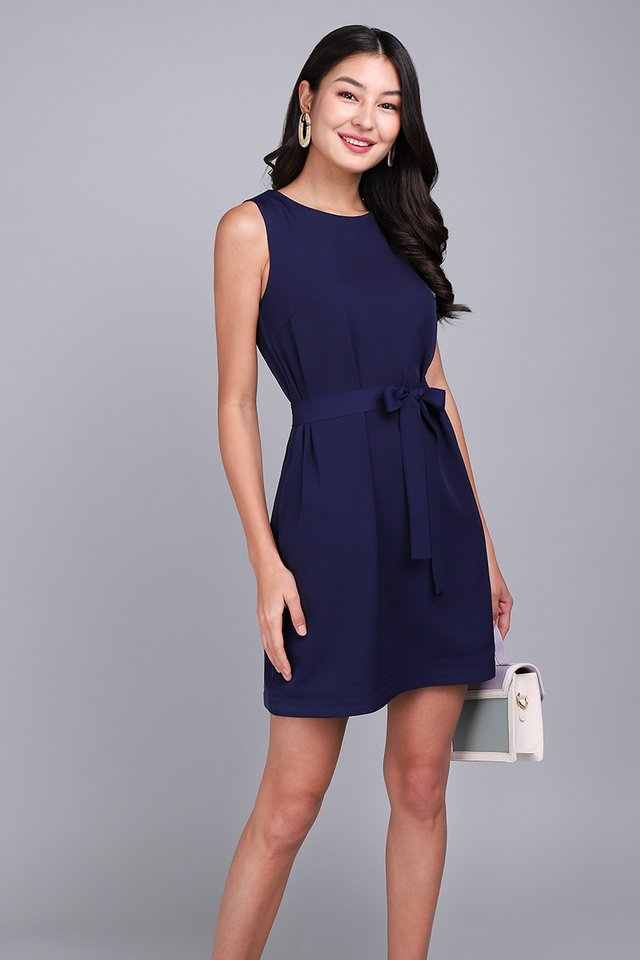 Weekday Merriment Dress In Navy Blue