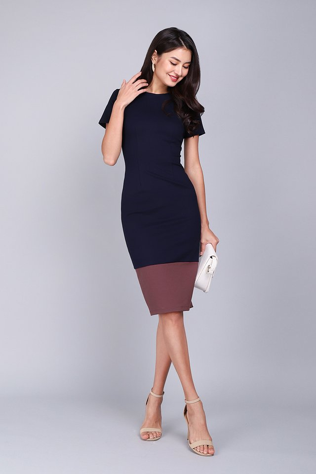 Universally Flattering Dress In Blue Rose