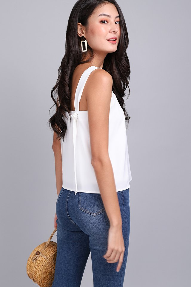 Weekend Chic Top In Classic White