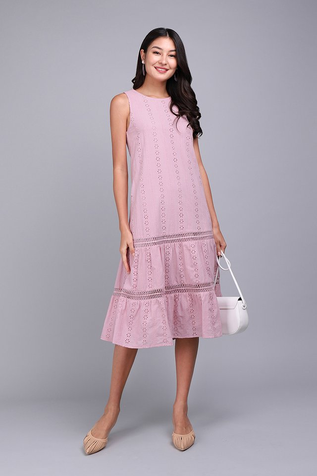 Mesmerized By You Dress In Soft Pink