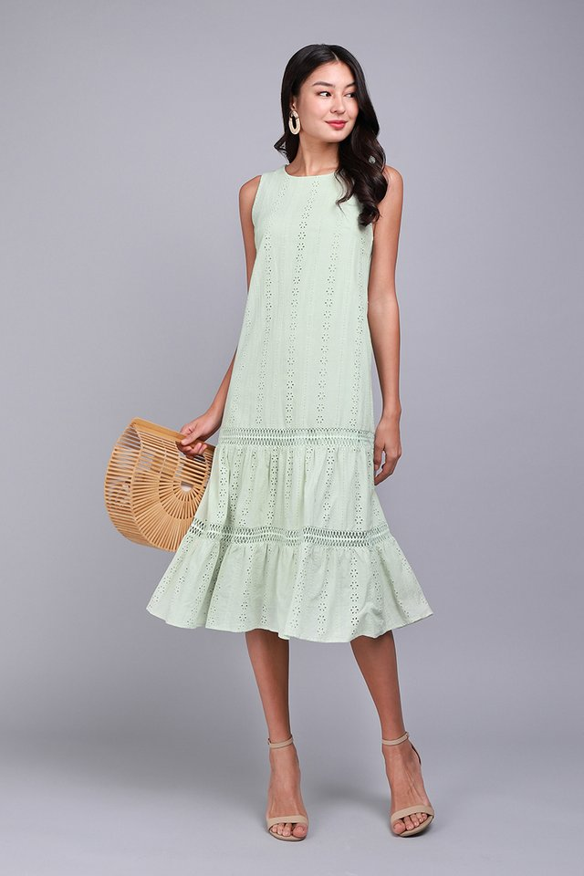 Mesmerized By You Dress In Sage Green