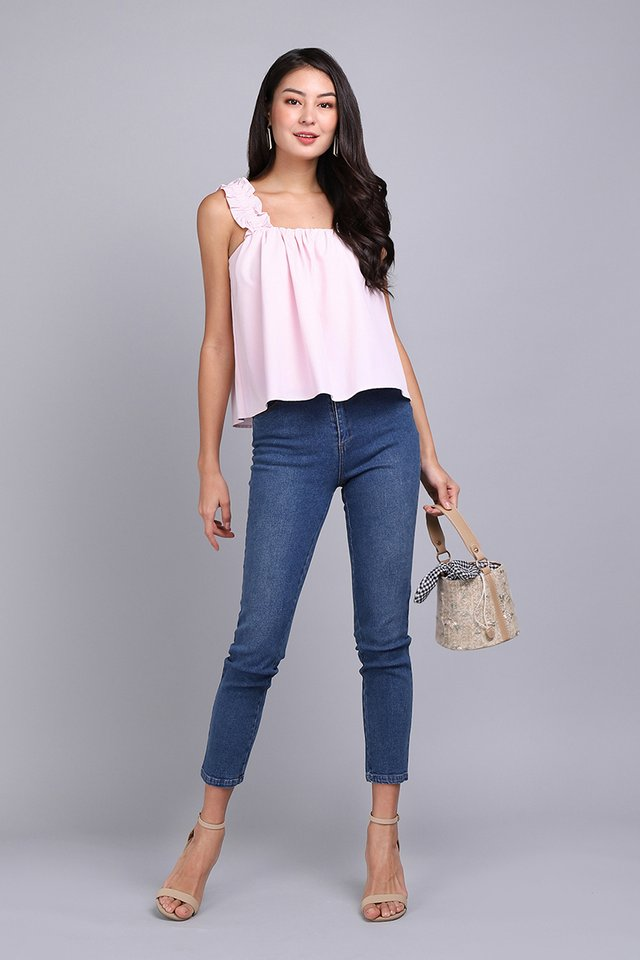 Weekend Antidote Top In Soft Pink