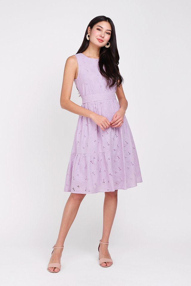 Dainty Hearts Dress In Soft Lilac