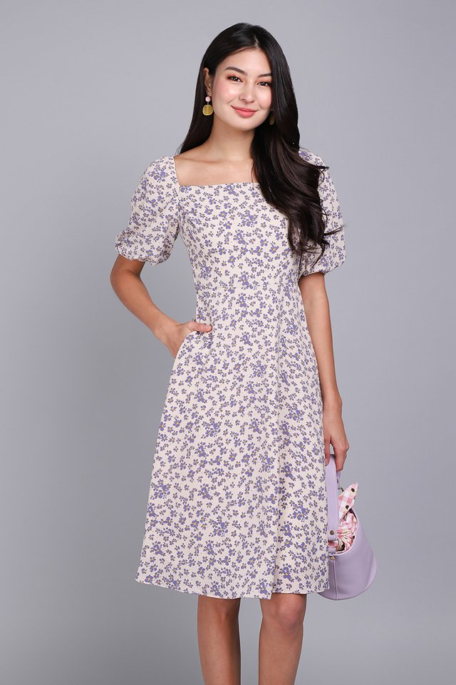 In Full Bloom Dress In Lilac Florals