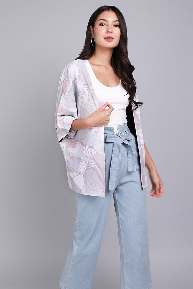 Where Flowers Bloom Kimono In Pink Prints
