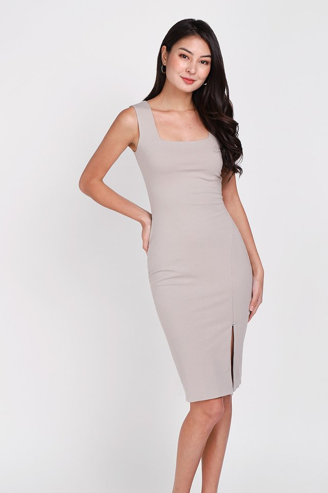 Sofia Dress In Taupe