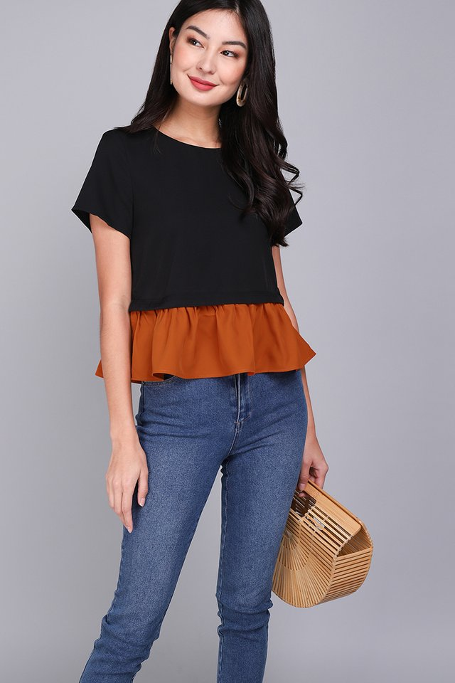 Double Trouble Top In Classic Black