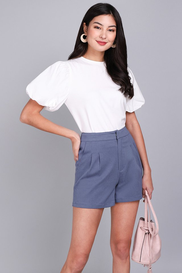 Lucas Shorts in Muted Blue