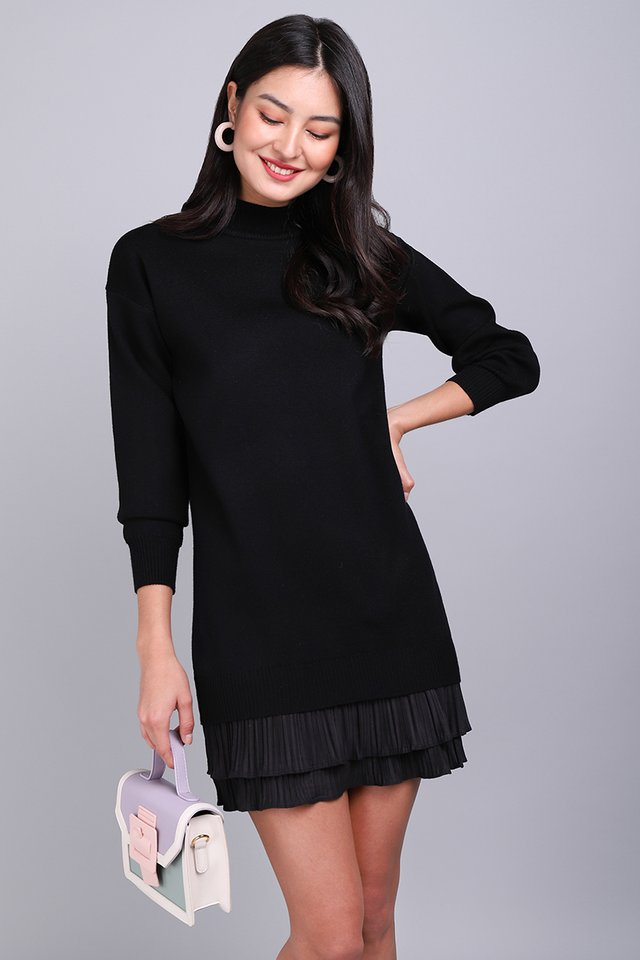 Spring Favourite Dress In Classic Black