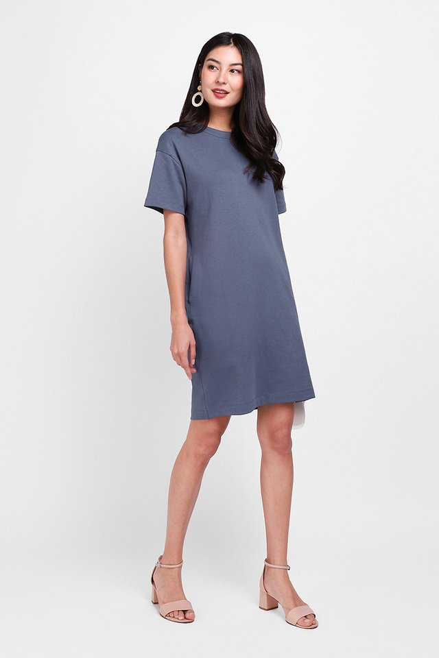 River Dress In Muted Blue