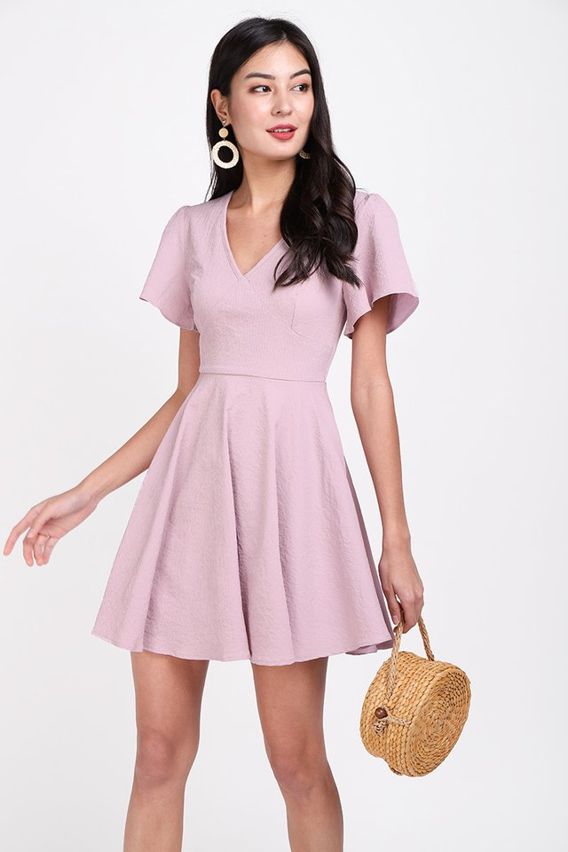 Holiday Spirits Dress In Dusty Pink