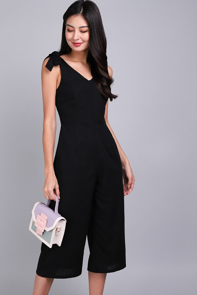 Good Vibes Only Romper In Classic Black