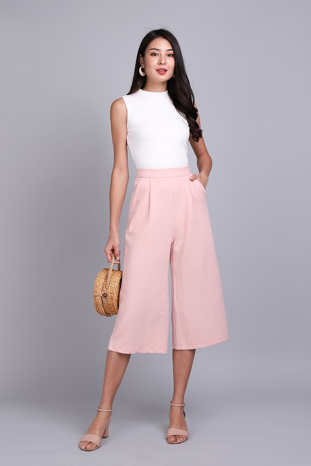 Sophia Culottes In Soft Pink