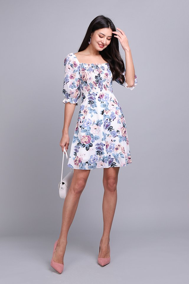 [BO] The Ethereal Beauty Dress In Lavender Florals