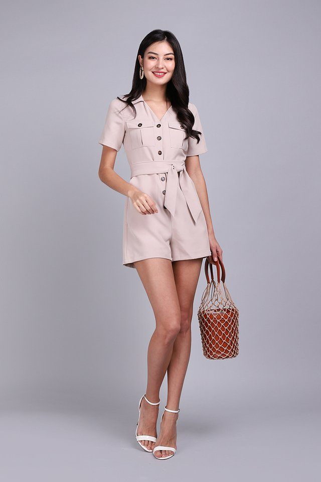Agent Carter Romper In Sand