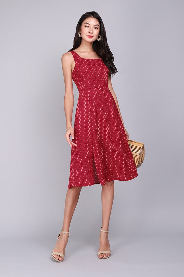 Playtime Dress In Red Dots