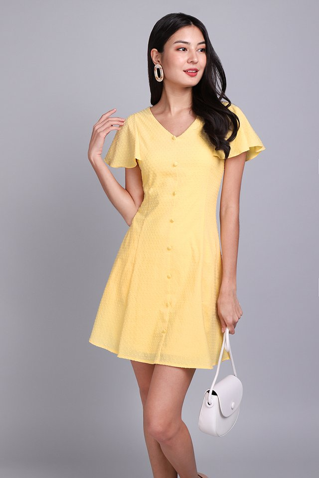 Summer Merriment Dress In Sunshine Yellow