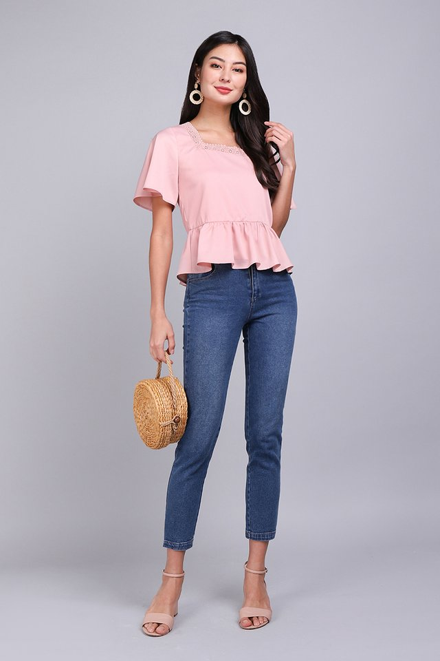 Favourite Novel Top In Dusty Pink
