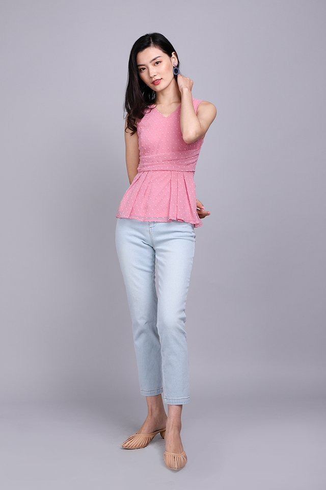 Spring Garden Top In Candy Pink