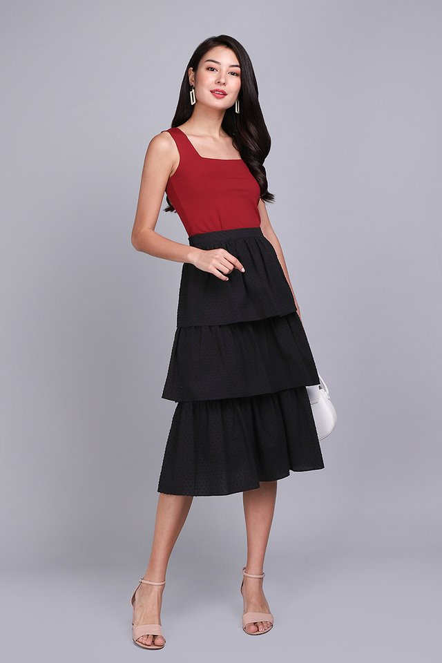Holiday Cheer Skirt In Classic Black