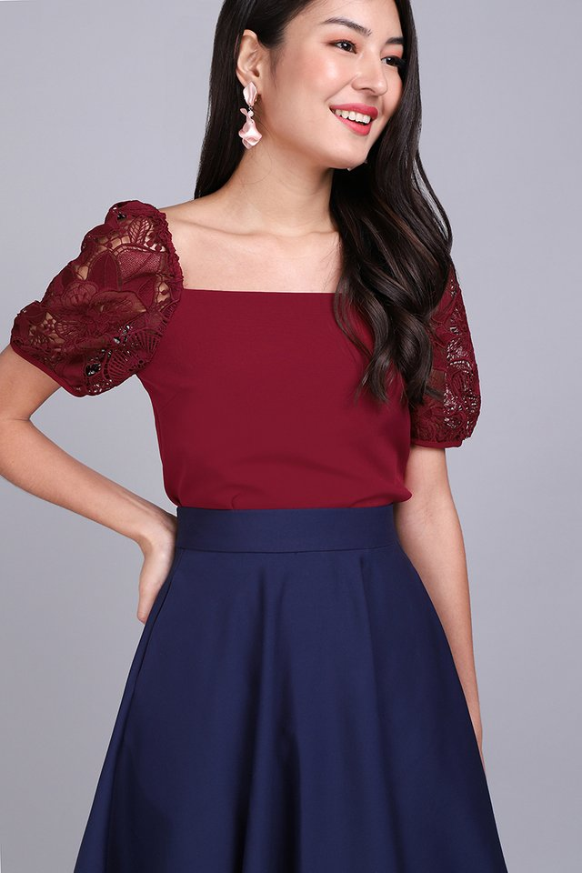 Love Language Top In Wine Red