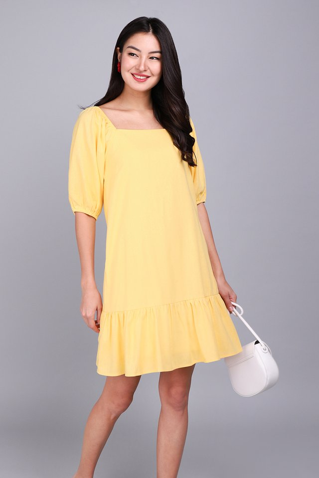 Fortune Favours The Bold Dress In Sunshine Yellow