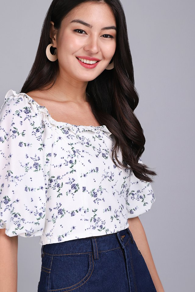Kindred Hearts Top In Lilac Florals