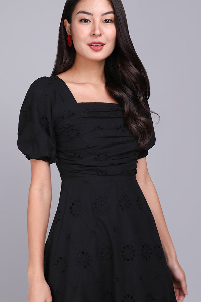 [BO] Sing A Song Of Spring Dress In Classic Black