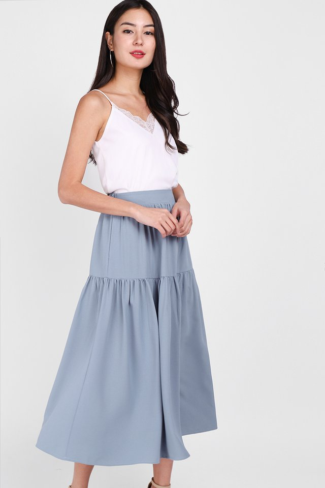 Poetic Walks Skirt In Dusty Blue